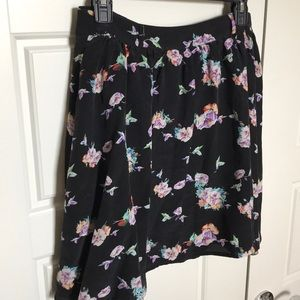Yumi Kim Silk Floral Mini Skirt